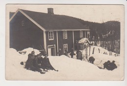 26691 Deux 2 Carte Photo Norvege Norge Eneret Mittel -1917 Famille Sport D'hivers Ski - Norvège