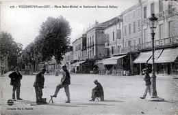 PETIT METIER - Cireurs De Chaussures Place Saint-Michel à Villeneuve / Lot. Etat. - Autres
