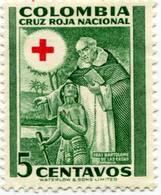 Lote CR13, Colombia, 1953, Sello, Stamp, Cruz Roja, Red Cross, Fray Bartalome De Las Casas - Colombia