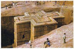 1 AK Äthiopien Ethiopia * Felsenkirche Bet Giyorgis In Lalibela - Erbaut Im 12. Jh. - Seit 1978 UNESCO Weltkulturerbe * - Äthiopien
