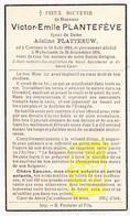 DP Victor E. Plantefève ° Comines Komen Waasten 1864 † Wijtschate Heuvelland 1936 X Adeline Platteeuw - Images Religieuses