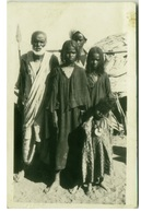 AFRICA - EGYPT - ASWAN - GROUP OF BISHAREENS - BY SELF PHOTO STORES - RPPC POSTCARD 1920s  (BG2170) - Assuan