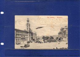 ##(ROYBOX1)- Postcards - Poland - Warszawa - Plac Teatralny - Theater Square - Animated - Used 1907 - Polonia