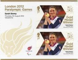 GREAT BRITAIN 2012 Paralympic Games Gold Medal Winners: Sarah Storey - Blocks & Miniature Sheets
