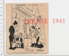 Presse 1941 Humour Hausse Des Prix De La Viande Pendant La Guerre Boucher Boucherie 223CHV4 - Old Paper