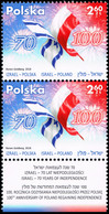 Poland 2018 Fi 4884 Mi 5034 Poland - Israel. Independence. Memory. Common Heritage - 1944-.... República