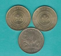 Swaziland - 5 Emalangeni - 2008 - Independence (KM54) King Mswati Birthday (KM55) & 2015 - Swaziland