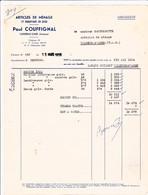 12-P.Couffignal ..Articles De Ménage & Chauffage En Gros...Capdenac-Gare...(Aveyron)..1954 - Petits Métiers