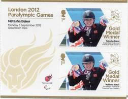 GREAT BRITAIN 2012 Paralympic Games Gold Medal Winners: Natasha Baker - Blocks & Miniature Sheets