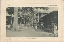 BOMA -CONGO-BELGE. - Rue Du Marché.  (scan Verso) - Autres