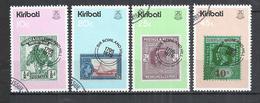 KIRIBATI 1979 - ROWLAND HILL ANNIVERSARY - CPL. SET - OBLITERE USED GESTEMPELT USADO - Stamps On Stamps