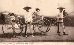 Chine. CPA.  LYON..  Les Pouss Pouss Chinois.  Exposition De Lyon 1914.  1916. - Chine