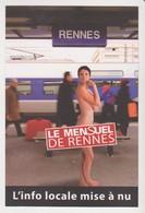 26695 -RENNES Le Mensuel De Rennes -journal Info Locale -femme Nue -train Gare - Rennes