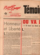 Non Classés Témoignage Chrétien Où Va La France ? AVON Seul College Fermé Par La Gestapo - Vieux Papiers