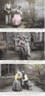 3 CARTES LES ETAPES DU BAISER PHOTO STEBBING - Couples