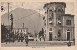 TRENTO CITTA' D'EPOCA VIA PERINI FTO. PICC. ANNO 1929 BELLI I DETTAGLI ANIMATA - Trento