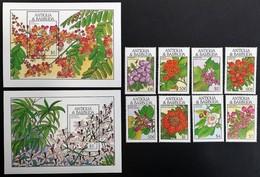 Antigua Barbuda 1987** Mi.1151-58 + Bl.145, 146. Flowers [19;84] - Plants
