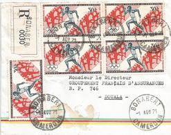 Cameroun Cameroon 1971 Bonaberi Olympic Games Relay Running Athletics Registered Cover - Kameroen (1960-...)