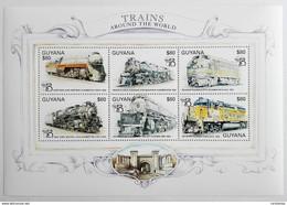 Guyana 1999** Klb.6523-28. Trains Around The World MNH [7II;101] - Trains