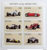 Guyana 1998** Klb.6313-18. History Of The Grand Prix MNH [7II;83] - Trains