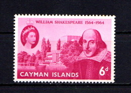 CAYMAN ISLANDS    1964    400th  Birth  Anniv  Of  Shakespeare    MNH - Iles Caïmans