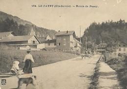 Haute Savoie  LE FAYET Route De Passy Attelage Poussette Chariot Carte Coupée En Ht à D - Autres Communes