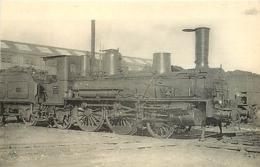 Thème Train Machine 454 Brive Locomotives Du Sud-Ouest (ex P.O) CP Ed. H.M.P. N° 465 Locomotive Vapeur - Trains