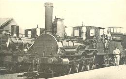 Thème Train Machine  133  Questembert Locomotives De L'Orléans CP Ed. H.M.P. N° 473 Locomotive Vapeur - Trains