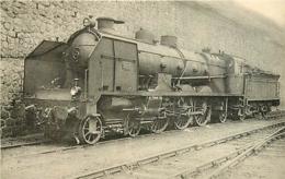 Thème Train Machine  3823 Limoges Locomotives Du Sud-Ouest (ex P.O) CP Ed. H.M.P. N° 475 Locomotive Vapeur - Trains