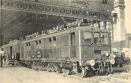 Thème Train Machine  E 3105 Transmission Par Engrenages Locomotives Du Sud-Ouest (ex Midi) CP Ed. H.M.P. N° 492 - Trains