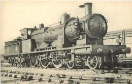 Thème Train Machine 3003 Paris Locomotives Du Sud-Ouest (ex P.O) CP Ed. H.M.P. N° 493 Locomotive Vapeur - Trains
