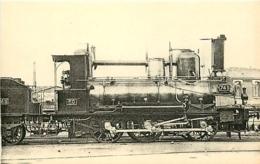 Thème Train Machine 745 Paris Locomotives De L'Orléans CP Ed. H.M.P. N° 496 Locomotive Vapeur - Trains