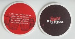 SLOVENIA Pivovarna Union  Pivnica Brewery BEER COASTER Mats - Beer Mats
