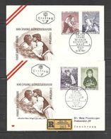 1961 - N. 927/30 SU 2 BUSTE CON ANNULLO PRIMO GIORNO (CATALOGO UNIFICATO) - FDC