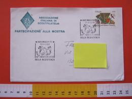 A.06 ITALIA ANNULLO - 1985 MUGGIA TRIESTE 40° ANNIVERSARIO RESISTENZA PARTIGIANI SECONDA GUERRA MONDIALE CATENE SPEZZATE - Seconda Guerra Mondiale