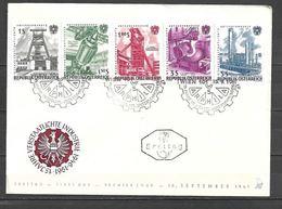 1961 - N. 932/36 SU BUSTA CON ANNULLO PRIMO GIORNO (CATALOGO UNIFICATO) - FDC