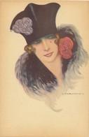 I37 - Illustrateur - NANNI - Femme Au Chapeau - Nanni