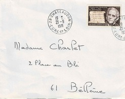 TP N° 1667 Seul  Sur Enveloppe De  Chateaudun - 1961-....