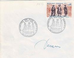 TP  N° 1678 Seul  Sur Enveloppe Avec Cachet 1er Jour De Versailles Avec Signature De Décaris - Poststempel (Briefe)
