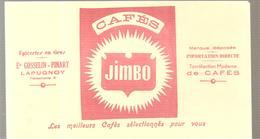 Buvard Cafés JIMBO Epicerie En Gros Ets GOSSELIN-PINART à LAPUGNOY - Café & Thé