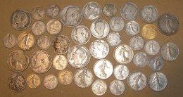 Lot De 43 Pièces De Monnaie Anciennes - Monnaies & Billets