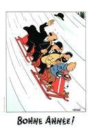 Tintin : Bonne Année 2009 (maxi Carte) Par Hergé - Bandes Dessinées