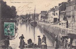 QUIMPER : Les Quais - Voiliers - Lavandières - Quimper