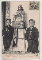5752 Cochinchine Vietnam Saigon Two Boys And A Buddhist Figure Mail Stamp Indo - Chine - Bouddhisme
