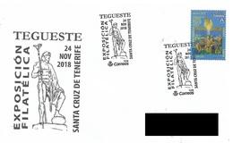 SPAIN. POSTMARK TEGUESTE. SANTA CRUZ DE TENERIFE 2018 - Marcofilia - EMA ( Maquina De Huellas A Franquear)