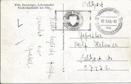 Veldpostbrief 2.9.40 Van Frankfurt (Nieder Eschbach) Stadt Des Deutschen Handwerks - Allemagne
