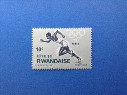 RWANDA REPUBLIQUE RWANDAISE 1964 OLIMPIADE TOKYO 10 C FRANCOBOLLO NUOVO STAMP NEW MNH** - 1962-69: Nuovi