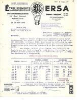 2 Factures 1940 1941 / 92 SURESNES PUTEAUX / Lampes ERSA / Difficultés Approvisionnement - 1900 – 1949