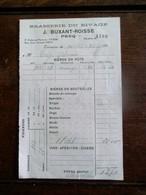Oude Facture   Brasserie Du Rivage    J.  BUXANT - ROISSE  PECQ  1937 - Belgique