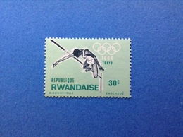 RWANDA REPUBLIQUE RWANDAISE 1964 OLIMPIADE TOKYO 30 C FRANCOBOLLO NUOVO STAMP NEW MNH** - 1962-69: Nuovi